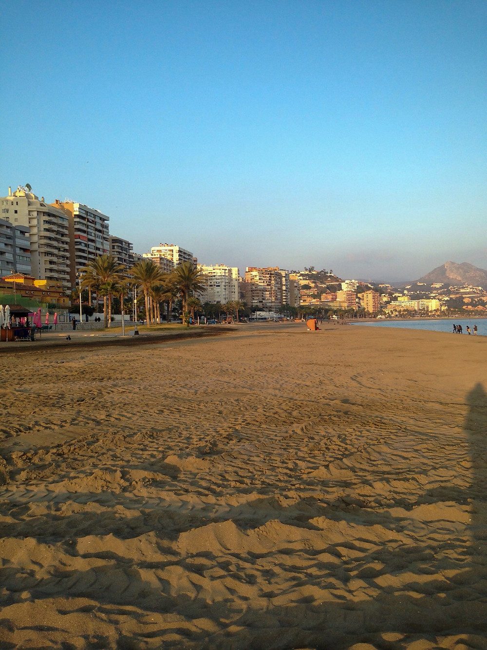 Malagueta, Málaga's beach, Spain