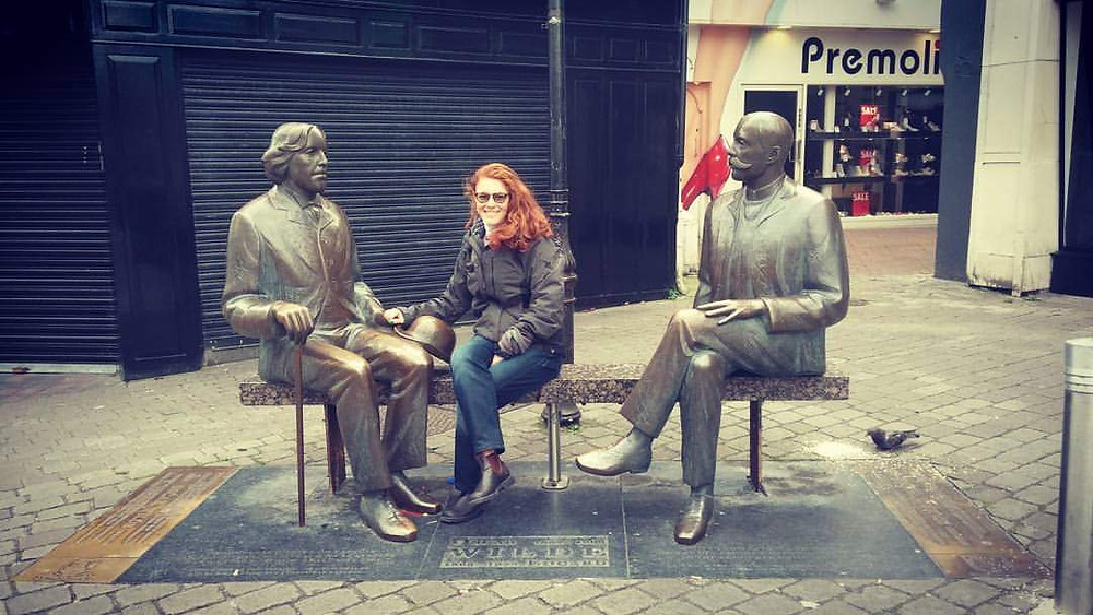 Statues of O.Wilde and E. Vilde in High Street Galway