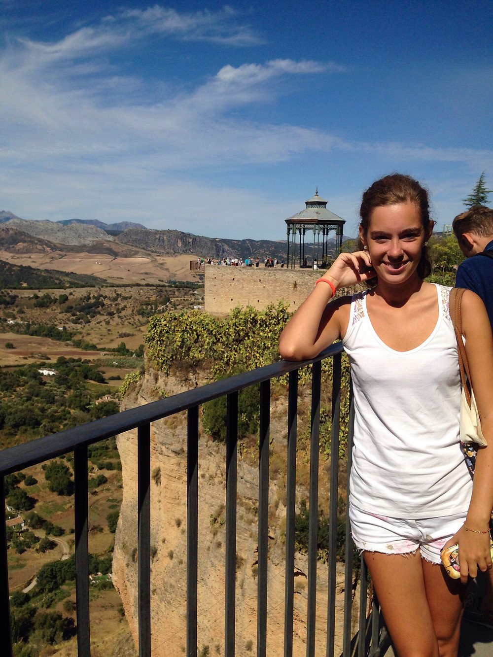 Martina on a trip to Ronda, Spain