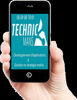 Logo technic'mans développeur le mans