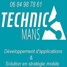 Logo de l'entreprise TECHNIC'MANS Développeur d'application & Solution en stratégie mobile. Développeur LE MANS