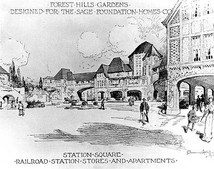 Atterbury drawing of Station Square