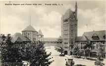 Vintage postcard of Station Square