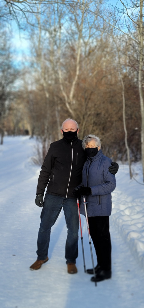 Saskatoon December 25, 2020  Being unable to hold Christmas together, my father and his almost 90 year old grandmother went for a walk to socialize and visit.