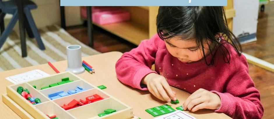 Gra w znaczki - Montessori DIY