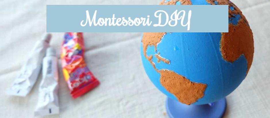 Szorstki globus - Montessori DIY