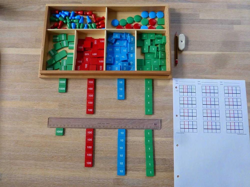 Metoda Montessori DIY w domu - Gra w znaczki