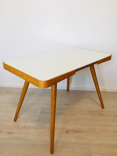 Coffee table with white opaline glass by Jiri Jiroutek,1950s