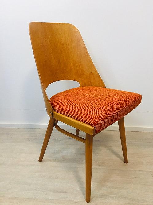Orange Chair model 514 by Lubomir Hofmann for TON, 1960s