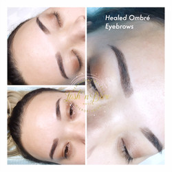 Healed Result for Ombre' Eyebrows