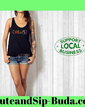COEXIST Black Tank Top
