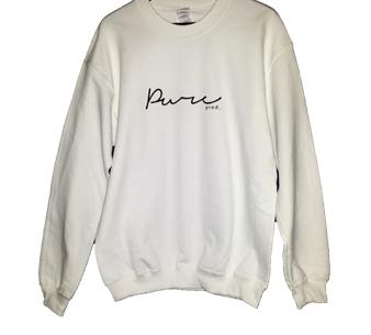 Pure Signature White Sweater