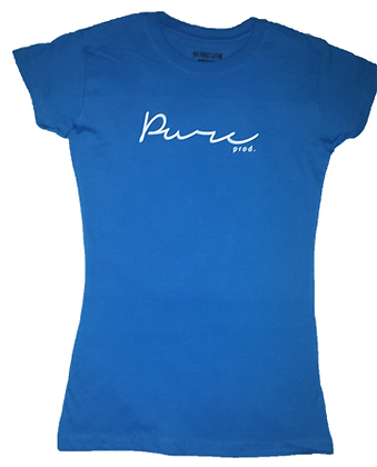 Ladies Blue Tee