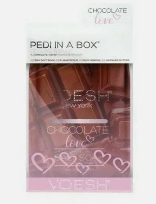 Voesh Chocolate 4 step Pedi in a box