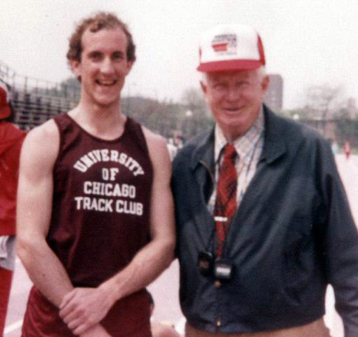 University of Chicago Track. Doug Morris triathlete coach at Palm Trees Ahead.