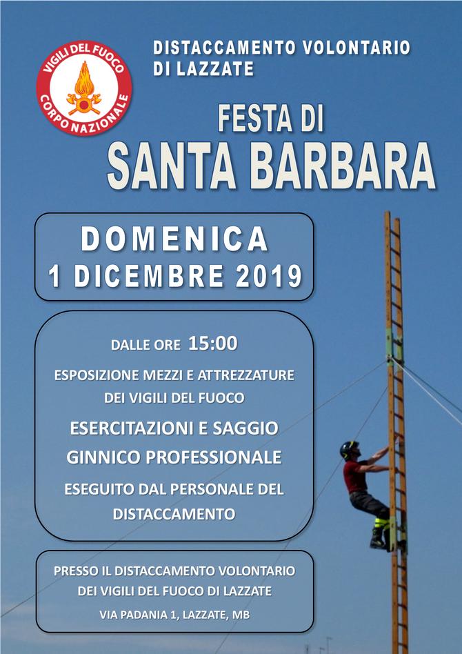 Festa di Santa Barbara 2019