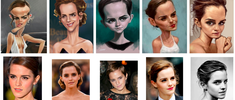 Face Verification with Caricatures