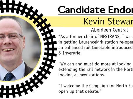 Kevin Stewart endorses CNER