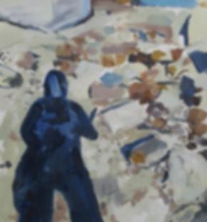 Shadow on site_Oil on paper.jpg