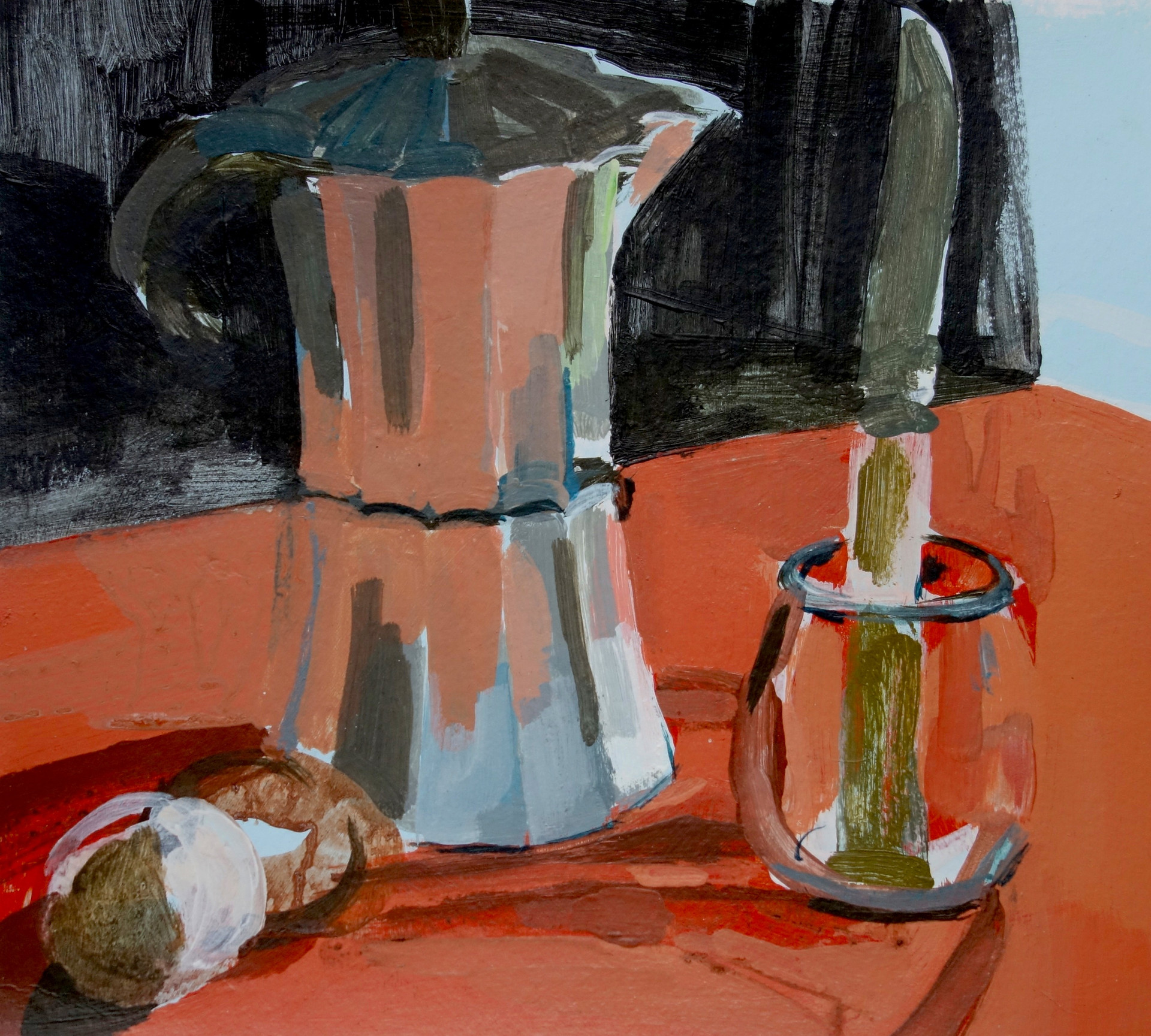 Coffee pot and Knife