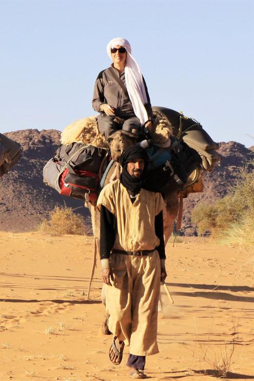 Jade sur son chameau