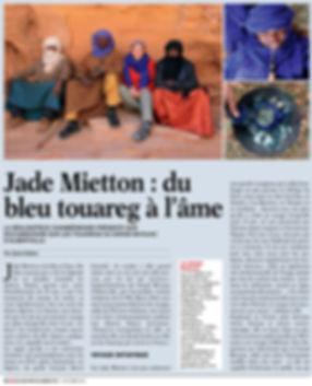 Magasine Echo Pays de Savoie sahara sahel jade mietton documentair interview radio télévision presse article