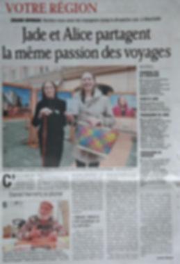 Dauphiné Libéré Grand Bivouac sahara sahel jade mietton documentaire interview radio télévision presse article