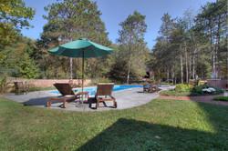 Pool, Perennial Garden & Party Barn
