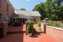 Expansive brick patios