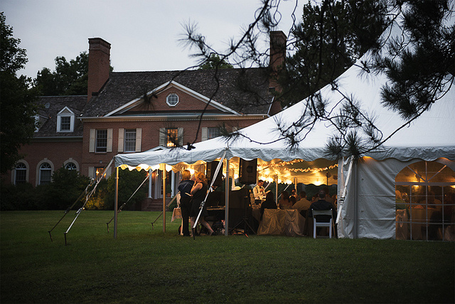 Evening Event on the Front Lawn
