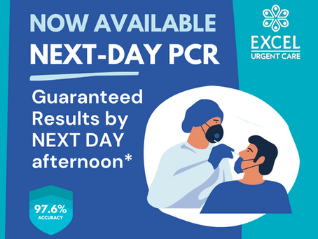 Next Day PCR Testing is now available