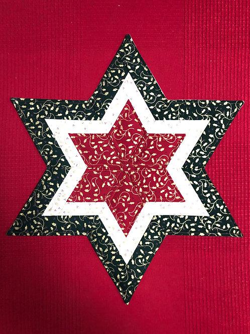 Estrella navideña - hojas de acebo