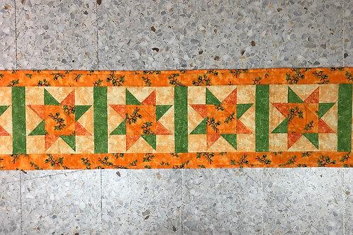 Mantel para mesa - naranja/verde - con aceitunas