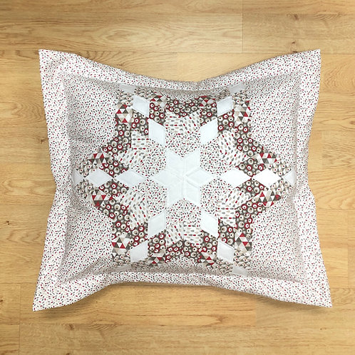 Cojín - blanco/rojo/beige/gris