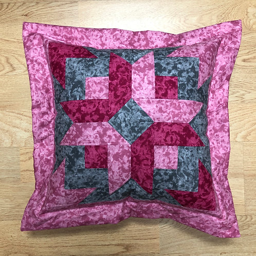 Cojín - colores mármol (gris,fucsia, rosa)