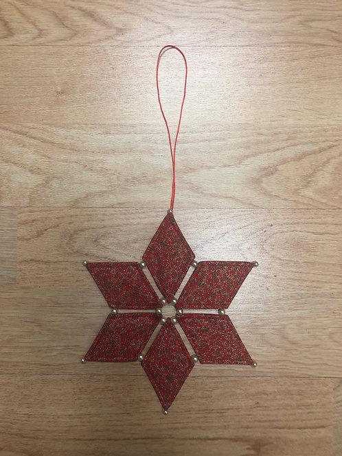 Estrella de Navidad - hojas de acebo