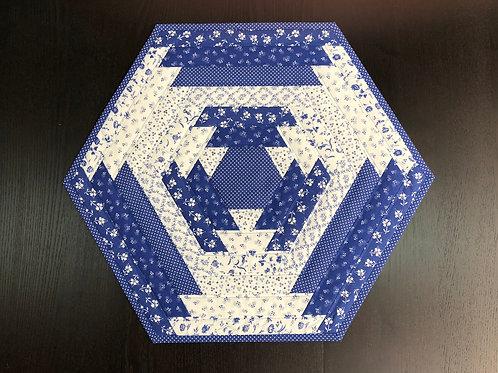 Mantel para mesa - azul/blanco