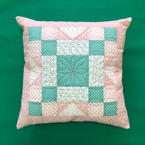 Cojín - rosa/verde