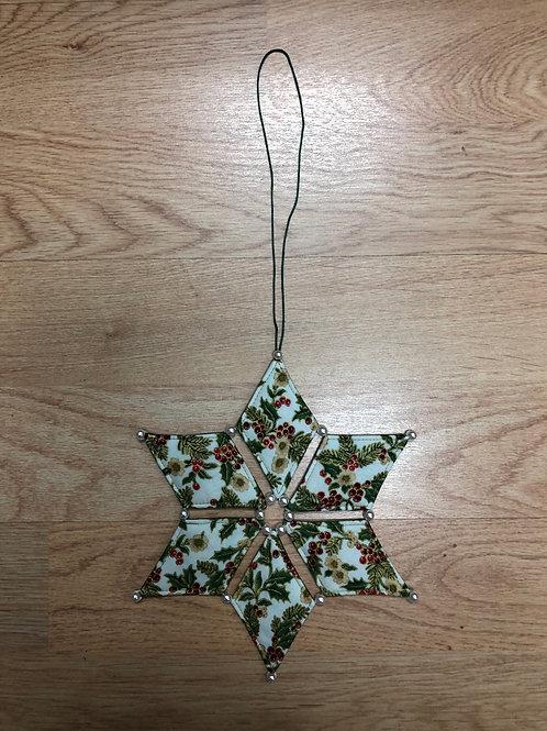 Estrella de Navidad - acebos