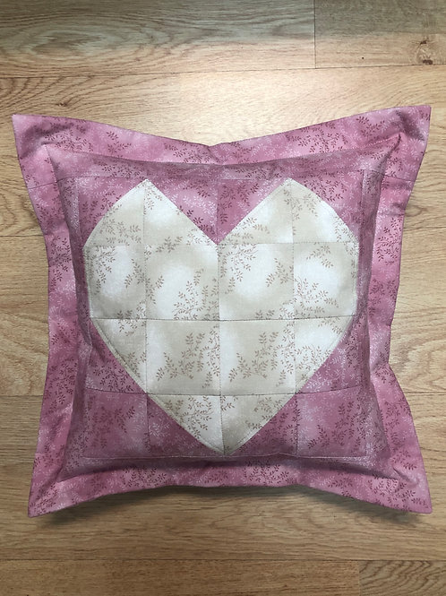 Cojín - Corazón - rosa, beige