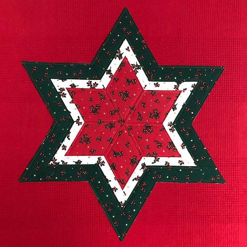 Estrella navideña - motivo acebo
