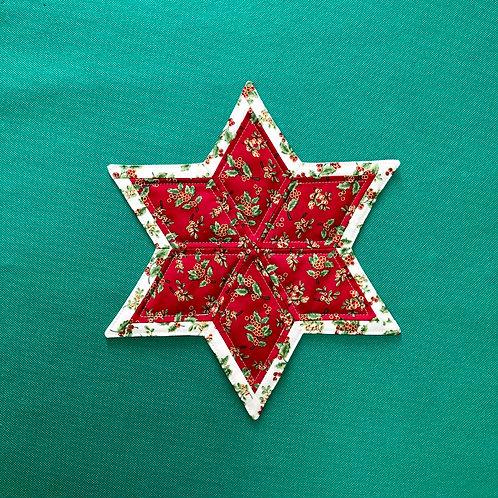 Estrella acebos - mantel pequeño