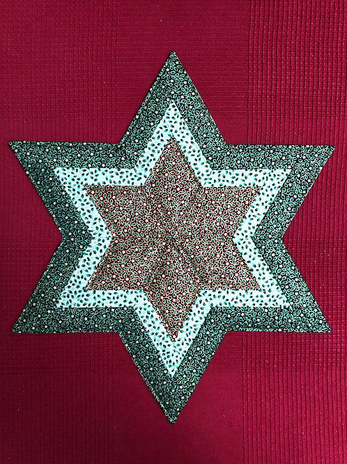 Estrella navideña - motivo hojas de acebo