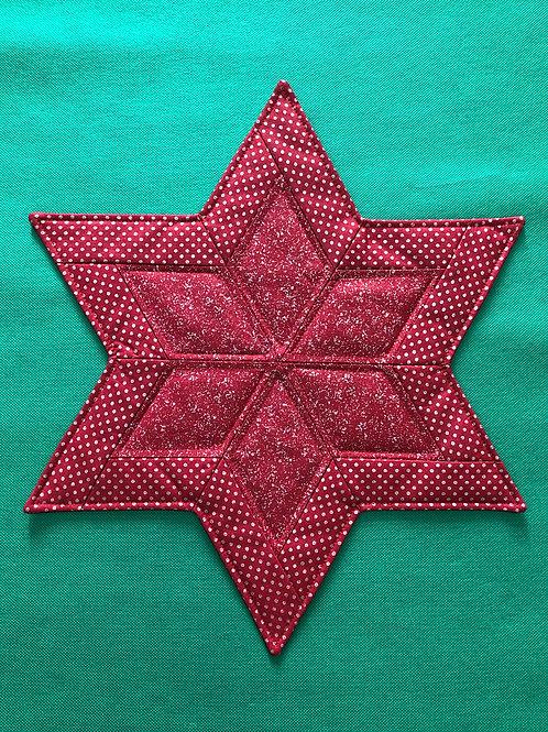 Estrella - mantel pequeño - puntitos