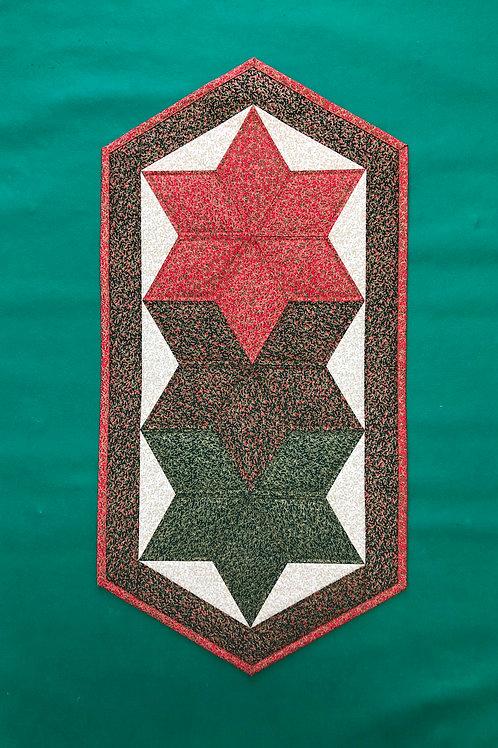 Mantel para mesa - rojo/verde/blanco