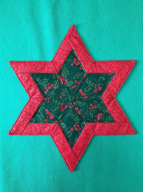 Estrella - mantel pequeño - acebo