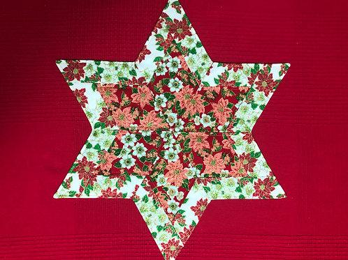 Estrella navideña - motivo rosas