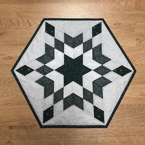 Mantel para mesa - verde/blanco