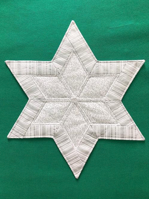 Estrella - mantel pequeño - plateado