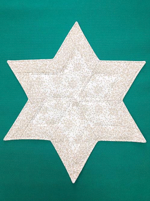 Estrella - mantel pequeño - dorado